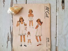 Childs slip and panties pattern vintage 1940s by happydayantiques, $14.50