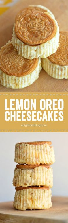 Mini Lemon Oreo Cheesecake - make tasty mini cheesecakes in just a few easy steps!