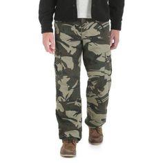 Wrangler Men's Fleece Lined Cargo Jean, Size: 30 x 30, Beige