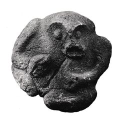 Among some tribes the mauri, or life principle, of the kumara crop took the form of a stone figure said to have been born from Hawaiki. This figure is from the Taranaki district.