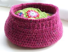 PDF Pattern: Crochet Basket £2.50