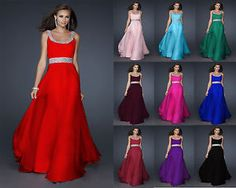 Long Chiffon Evening Formal Party Ball Gown Prom Bridesmaid Dress size : 6 -16 | eBay