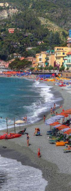 Riomaggiore Beach of Monterosso - Cinque Terre   Italy
