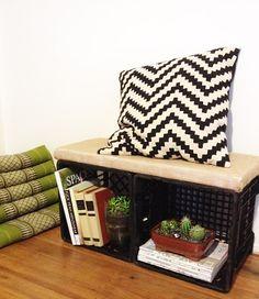 milk crate furniture | crate inspiration | pinterest | milk crate