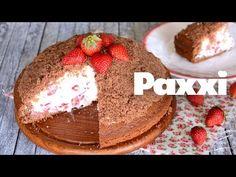 Ένα διαφορετικό κέικ – τούρτα βουνό παίρνει το όνομα του λόγω του σχήματος του. Σοκολατένιο κέικ γεμιστό με κρέμα τυριών και φράουλες. Tiramisu, Candy, Dessert Ideas, Sweet Dreams, Cooking, Ethnic Recipes, Desserts, Food, Youtube