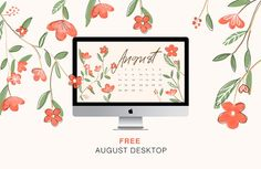 It's already August,half of the summer went by so fast that I can't even remember. Well I am giving you today free august wallpaper to decorate your desktop