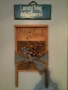 Washboard repurposed and passed to a new generation