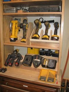 Pin by mark dauphin on Tool storage in 2019 - Pin by mark dauphin on Tool storage in 2019 Tool Storage Cabinets, Garage Tool Storage, Van Storage, Lumber Storage, Garage Storage Solutions, Garage Tools, Pegboard Storage, Storage Ideas, Garage Workshop Organization