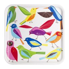 Small Girl's Ikea tray - bird print tray