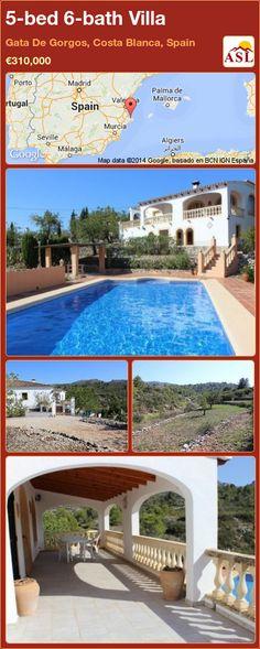 5-bed 6-bath Villa in Gata De Gorgos, Costa Blanca, Spain ►€310,000 #PropertyForSaleInSpain