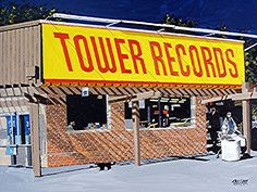 Record stores - I spent a lot of hours at the Tower records on West End in Nashville. It was open until midnight!