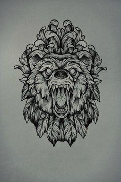 Traditional Bear Tattoo Design Idea