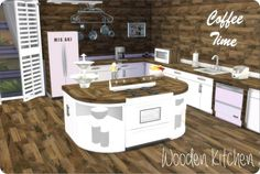 Xmisakix sims: Wooden Kitchen • Sims 4 Downloads