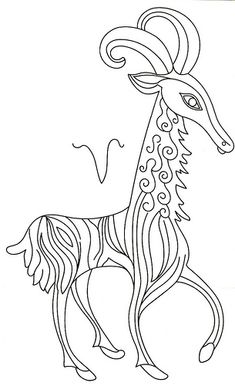 #Aries #zodiac #embroidery #coloring page