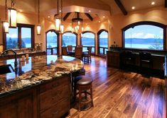 I want this kitchen and the view!