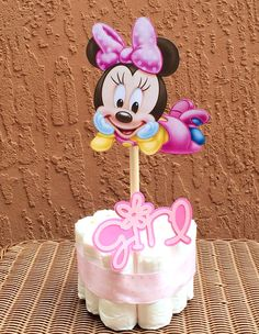 Mini Diaper Cakes - Minnie Mouse  - Baby Girl on Etsy, $10.00