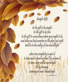 Thanksgiving Image, Simple Gifts Image, Autumn Image, Simple Gifts Quote, Poster Wall Art, Fall Wall Décor, Family Room, Dining Room Décor by DigitalArtMovement on Etsy