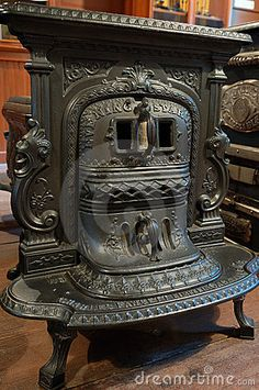Top Antique Cast Iron Wood Stove With Carving Design Collection - Design