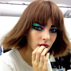 Get the Look: Chanel's Artsy Makeup and Hair Look, Spring 2014 Collection