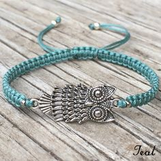 This super cute bracelet is ready to wear by itself or perfect for layering and stacking.  Adjustable in length with a sliding square knot.