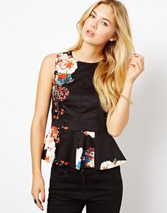 Closet Peplum Top in Floral Print - Now on http://ootdmagazine.com/store/product/closet-peplum-top-floral-print/ #fashion