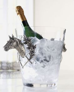 Ice Bucket with Horse Handles by Vagabond House