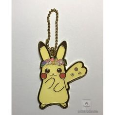Pokemon Center 2018 Easter Campaign Pikachu Metal Keychain Charm With Egg (Version #5)