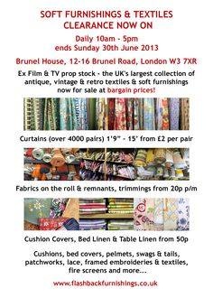 Sale details - come & visit before it all goes!