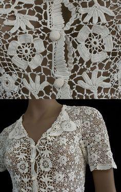 Camisa Apliques de Crochet - Patrones Crochet                                                                                                                                                                                 Más