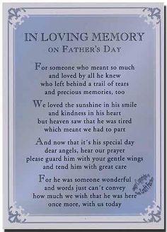 In Loving Memory on Father's Day - I miss you Daddy! Love you bunches! Rip Daddy, Miss My Daddy, Miss You Dad, Daddy Poem, Daddy Bear, Fathers Day Poems, Happy Father Day Quotes, First Fathers Day, Happy Mothers