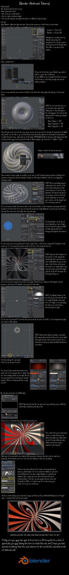 Blender Abstract Tutorial by VickyM72.deviantart.com on @DeviantArt