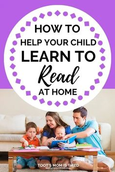 How to Help Your Child Learn to Read at Home | Teach your kid to read at home, distance learning, kindergarteners learn how to read, teach your 5 year old to read, help kids learn to read online. Reading Help, Reading At Home, Reading Skills, Teaching Reading, Teaching Phonics, Preschool Learning Activities, Kids Learning, Learning Tools, Preschool Crafts