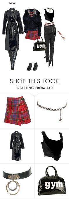 """""""stfu"""" by brainlesss ❤ liked on Polyvore featuring Vivienne Westwood, Chanel, NIKE, TradeMark, Trumpette and MAKE UP FOR EVER"""