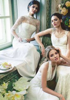 Soft Bridal Photohoots - The Vogue Russia White Wedding Editorial is Ethereal and Romantic (GALLERY)