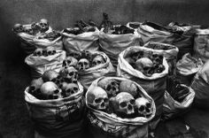 Raghu Rai, Bhopal, India, 2001. Skulls discarded after research at the Hamida Hospital.