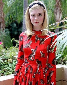 Elle Fanning at 'The Neon Demon' photocall in LA [June 27th, 2016]