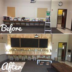 Classroom Transformation-farmhouse style