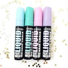 """Our hair chalk is LIQUID GOLD! Starts out as liquid to create high intensity colour that washes out! #Liquid #HairChalk #BriteBabe"" Photo taken by @briteorganix on Instagram, pinned via the InstaPin iOS App! http://www.instapinapp.com (09/16/2015)"