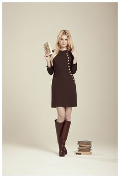 Francis fall 2012 - Cecilia 3/4 sleeve knit dress with button and loop detail