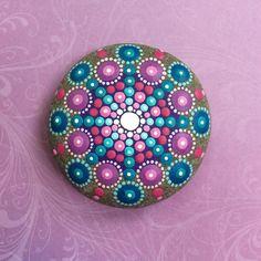 Jewel Drop Mandala Painted Stone Regal Jewels by ElspethMcLean