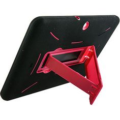 Armor Dual Layer Cover w/ Kickstand for Samsung Galaxy Tab 2 10.1, Black/Hot Pink