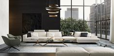 Jean-Marie Massaud recently designed the elegant and contemporary Mondrian sofa and coffee table series for luxury Italian brand Poliform.
