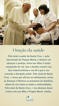 Oraçao da Saúde Religion Quotes, Zen, Catholic Prayers, Jesus Freak, Keep The Faith, Mother Mary, Gods Love, Christ, Spirituality
