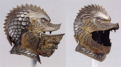 The Weirdest and Fiercest Helmets from the Age of Armored Combat Toothface helm by an unknown Italian artist from the century Sallet in the Shape of a Lion's Head, c. Closed helmet with. Combat Helmet, Helmet Armor, Arm Armor, Helmet Head, Combat Armor, Medieval Helmets, Medieval Weapons, Armadura Medieval, Fantasy Armor