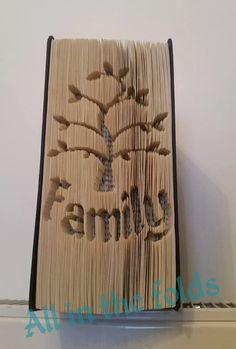 Family tree CUT AND FOLD book art pattern Measurement style not graph/image