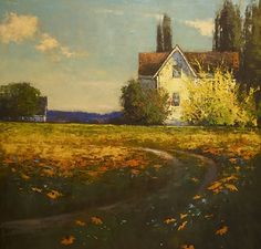 spring is finally here by Romona Youngquist Oil ~ 40 x 40