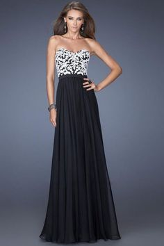 Sweetheart A Line With White Applique Embellished Long Chiffon Vintage Prom Dresses