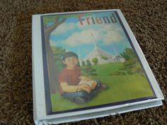 sacrament activities-The Friend binder- activty pages and dry erase crayons