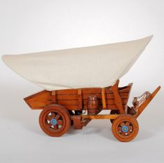 Muslin Covered Wagon Vintage Lamp $95 luckystargallery.com