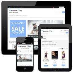 Westminster New - Responsive ecommerce web design free template for Zen Cart